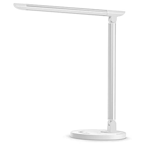 Lampada da scrivania a LED, lampada da tavolo protezione degli occhi, dimmerabile, touch Control,con 7 livelli di luminosità 5 modalità di illuminazione, porta di ricarica USB…