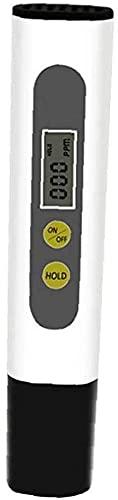 GXT Wasserqualitätsprüfer mit LCD-Display, Teststift mit zwei Schlüsseln, Trinkwassertest-Messgerät, Weiß