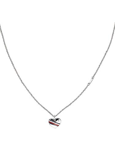 Tommy Hilfiger Casual Core Damen Halskette Edelstahl Silber 40 - 45 cm