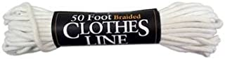 Cotton Rope 50ft Cotton Braided Clothes Line Rope (3/16-inch)
