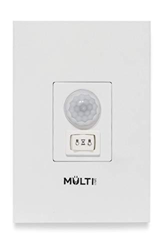 Sensor de Presença para embutir em parede em caixa 4x2 com chave liga/desliga e tempo regulável Multicraft