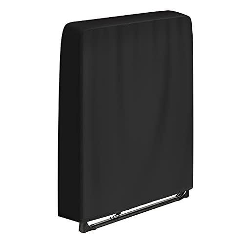 SIRUITON Garden Funda Plegable para Silla Reclinable 420D Oxford Impermeable Anti-UV Resistente a rasgaduras Cubierta para Tumbona de Patio al Aire Libre Cubierta para Tumbona Negro 96 x 84CM