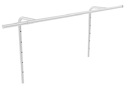 PEGANE Barre Extensible pour cintres en chromé - H 64 x L 120-203 x P 26 cm