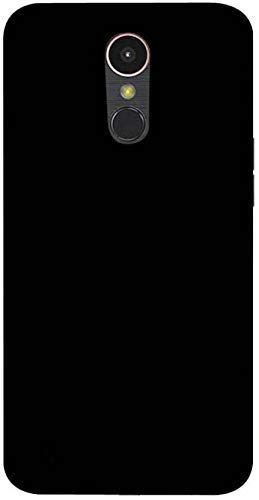 Cassby Plain Flexible Pudding Back Cover for LG K10 2017 - Matte Black Case