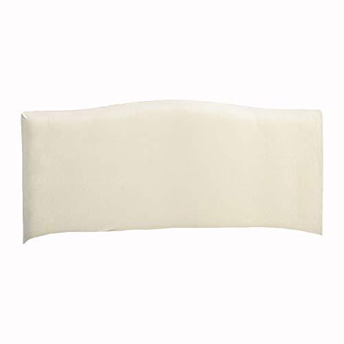 KYJSW Funda protectora para cabecero de cama, de terciopelo a prueba de polvo, extraíble, lavable, color sólido, para cama individual, doble, king (beige, 220 cm)