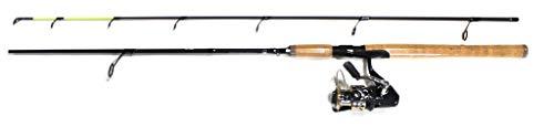 Kinetic Angelfish Spin Combo S3 Booster S3 3000FD - Caña de pescar (180 cm, 15-60 g, mango de corcho)
