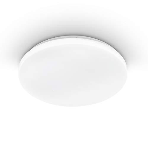 EGLO Deckenlampe Pogliola, Ø 31 cm, 1 flammige Wandlampe, LED Deckenleuchte aus Stahl und Kunststoff in Weiß, Wohnzimmerlampe, Küchenlampe, Bürolampe, Flurlampe Decke