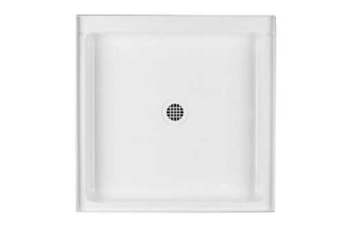 Swanstone FF03232MD.010 Veritek Center Drain Shower Base, 32-in L X 32-in H X 5.5-in H, White