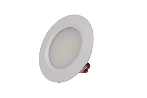 LEDLUX Mini foco LED empotrable redondo 3 W AC/DC 12 V DC 24 V Orificio 50 mm Diámetro 68 mm