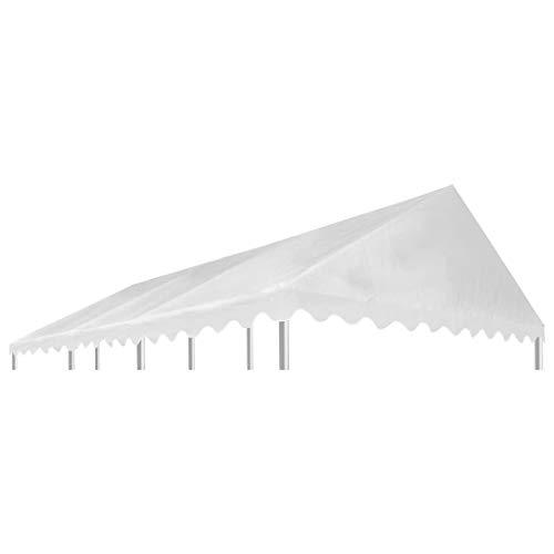 vidaXL Pavillondach PVC 500g/m² 6x4m Weiß Ersatzdach Pavillon Plane Dachplane