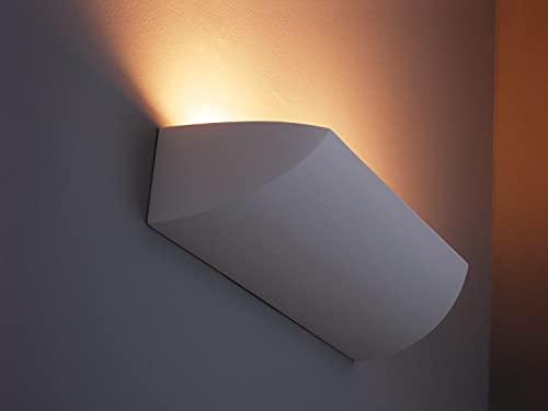 Intemporel Applique murale en blanc 2 x E27 23 W 230 V lampe murale en plâtre Salon Chambre à coucher Couloir lampe Leuchten intérieur
