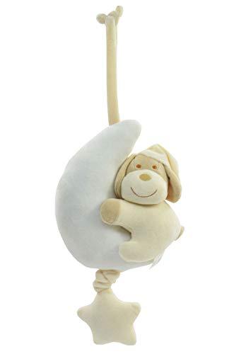 Kögler- Peluche Musical, Perro con Luna en Beige, Aprox. 46 x 17 cm, Suave y acogedora Ayuda a Dormir del bebé, Reproduce una melodía Relajante, Ideal para la Cama y el Cochecito, Color (20327)