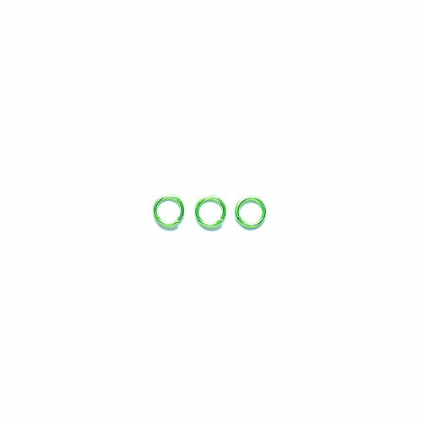 Shipwreck Beads Electroplated Brass Jump Ring, 5 mm, 19-Gauge, Metallic, Lime Green, 50 gm Pack