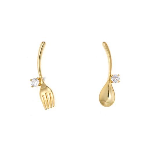 forocean Fun forma especial ins pendientes pendientes de cuchara de mujer pendientes de tenedor Pendientes Regalos