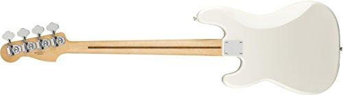 Fender Jugador de precisión bajo eléctrico – Diapasón de arce – Blanco polar