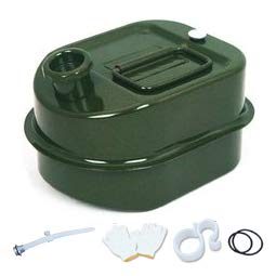 SANMO Fuel Tank Small Sized Diesel Can Portable Metal Petrol Can Fuel Can Gasoline Container Used for Motorcycles Automobiles Lawn Mower Boating Camping 3L 0.8gal Green
