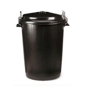 HELGUEFER - Basurero 100 litros con Tapa Negro