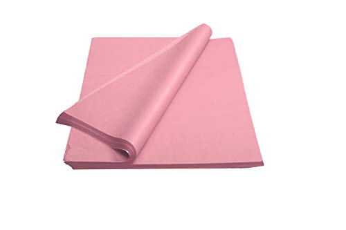 Crown 480 Sheets Bulk Pack Pink Tissue Paper Gift Wrap - Ream of Paper - 15 inch. x 20 inch. Wrapping Tissue Paper - for Scrapbooking Paper, Art n Crafts, Wrapping Christmas Gifts and More!!