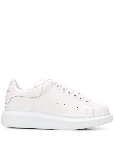 Alexander McQueen Luxury Fashion Damen 553770WHGP09000 Weiss Leder Sneakers | Herbst Winter 20