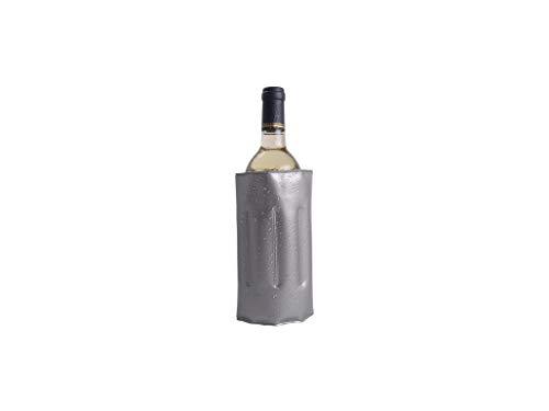B&F Enfriador Botellas de Vino/Funda Enfriador De Botellas De Vino/Champám/Cava/Sidra/Cerveza/Enfriador Rápido para Botellas Autoajustable y Antideslizante Universal (Gris)