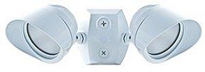 RAB Lighting LED Bullet Flood 2x12W Adjustable Dual Heads White Cool, Hardwired