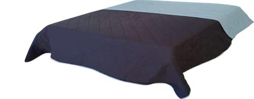 MB Warenhandel24 Tagesdecke XXL Allzweckdecke ca. 220x240 Patchwork Landhaus Sofa Bettüberwurf (Vintage blau)
