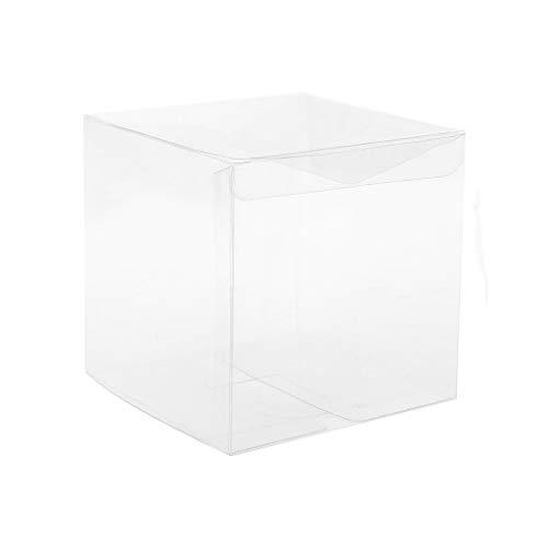 GROOMY 10 Piezas de PVC Transparente de plástico de la Torta del Cubo del Regalo del Favor de la Boda Cajas de Dulces Bolsa de Fiesta