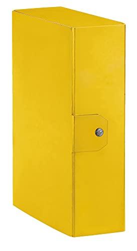 Esselte Eurobox, Cartella Progetti, Formato A4, Dorso 10 cm, Giallo, 1 Pezzo