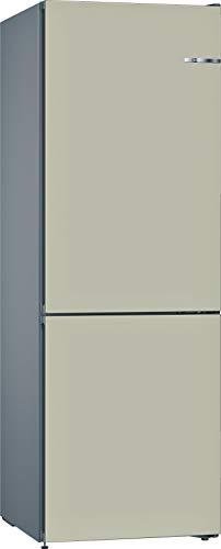 Bosch KVN36CKEA Serie 4 VarioStyle Frigorífico independiente/E / 186 cm / 239 kWh/año/Puerta frontal intercambiable champán / 216 L / 89 L parte congelador/NoFrost/FreshSense