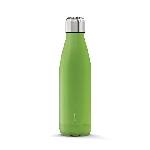 THE STEEL BOTTLE Verde 500ml, Bottiglia Termica Fitness, Tempo Libero, Campeggio, M
