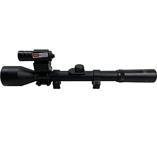 Visor telescópico 4x28 táctico gamo con láser | Mira telescópica para carabinas y escopetas de balines (Aire comprimido) o Airsoft