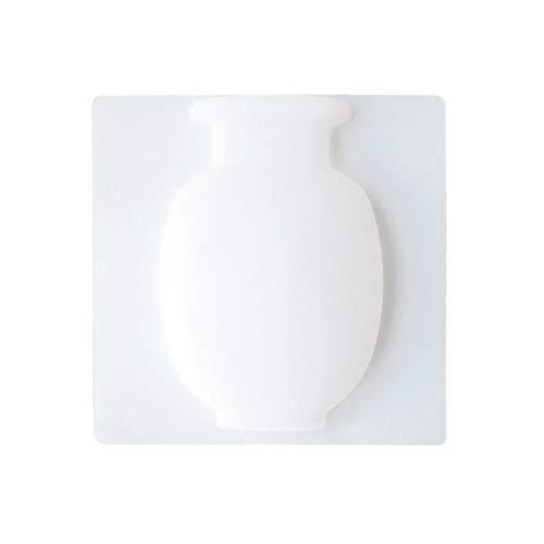 Gesh Jarrón adhesivo de silicona fácil de quitar de pared y refrigerador, florero mágico para plantas de bricolaje, decoración del hogar, accesorios de color blanco