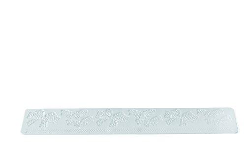 Wonder Cakes by Silikomart 23.095.87.0069 Tapis en Silicone pour Dentelles en Sucre, Blanc, 0,5 x 9,5 x 42 cm