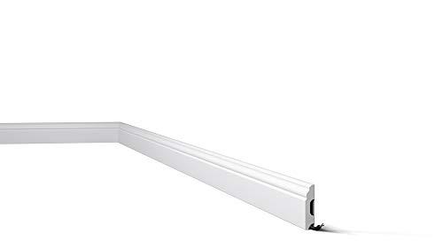 Zócalos para paredes Wallstyl FB1 Nmc / Rodapiés / Zócalo blanco / Molduras poliestireno