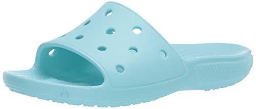 Crocs Classic Slide, Sandalias de Punta Descubierta Hombre, Azul (Ice Blue 4o9), 38/39 EU