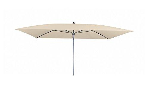 Doppler Absolut wasserdichter Gartenschirm Waterproof 230x190 ohne Volant, UV-Schutz 50 Plus, Farbe Natur