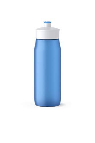 Emsa Squeeze Bottle 0,6L Blue, PE, Blau, 6.5 x 6.5 x 21.9 cm
