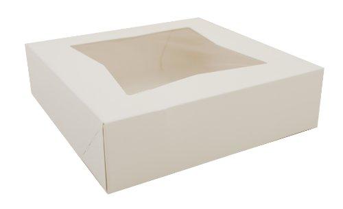 Southern Champion Tray 24133 White Paperboard Window Bakery Box, 9