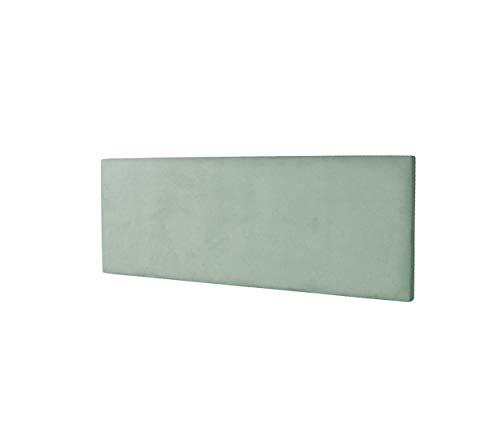DHOME Cabecero de Polipiel o Tela AQUALINE Liso cabeceros Cabezal tapizado Cama Lujo (Tela Verde Agua, 160cm (Camas 150/160))