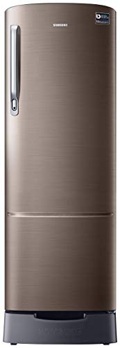Samsung 255 L 3 Star Direct-Cool Single Door Refrigerator (RR26T389YDX/HL, Base Stand with Drawer, Luxe Brown)