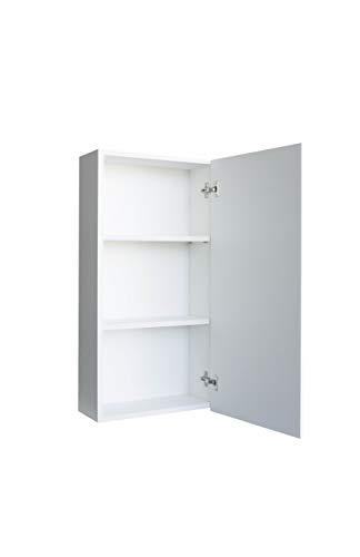 MUEBLECASA - Mueble de baño montado con 2 baldas regulables para colgar, madera, Alto 83 cm x Ancho 30cm x Fondo 17 cm, Blanco