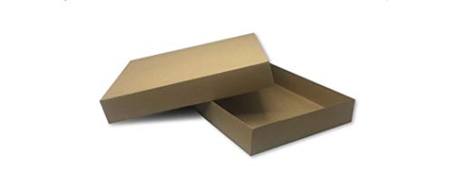 Brown Cardboard Kraft Apparel Decorative Gift Boxes with Lids for Clothing and Gifts, 15x9.5x2 (5 Pack) | MagicWater Supply