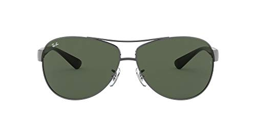 Ray-Ban RB3386 Aviator Sunglasses, Gunmetal/Green, 67 mm