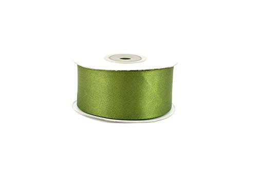 Creativery 25m Rolle Satinband 38mm (olivgrün 563D) // Schleifenband Satin Deko Band Dekoband Geschenkband Dekoration Hochzeit Taufe Geburtstag 4cm