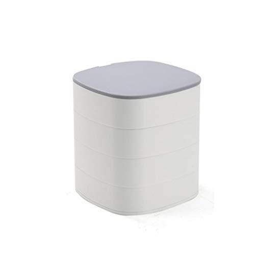 ZYING Caja de Almacenamiento de Escritorio giratoria de 360 °, Caja de Almacenamiento de joyero, Caja de Almacenamiento de Objetos pequeños (Color : B)