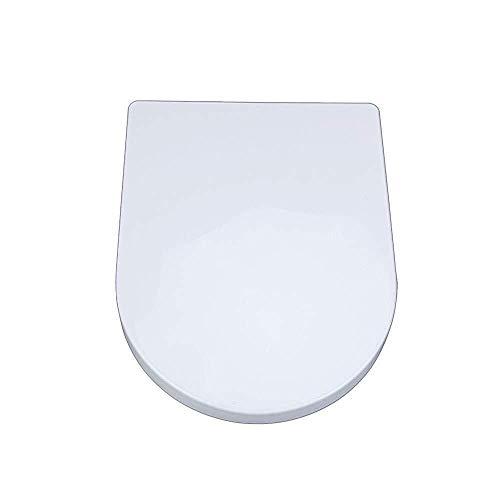 J+N JN wc-bril wc-bril small vierkant U universele wc-deksel met mute-slow down Top Mounted ultra-resistente wc-bril cover (kleur: wit, maat: 40~44 cm * 33,5 cm) premium wc-deksel