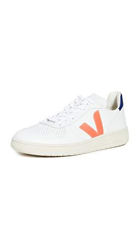 VEJA V-10 Sneakers heren Wit/Blauw/Oranje Lage sneakers