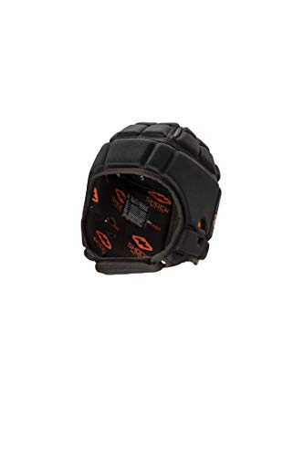 Shock Doctor Football/Rugby Headgear. Soft Shell Protective Head Gear. for 7v7 Football, Flag Football, Rugby and More (Black, Large)