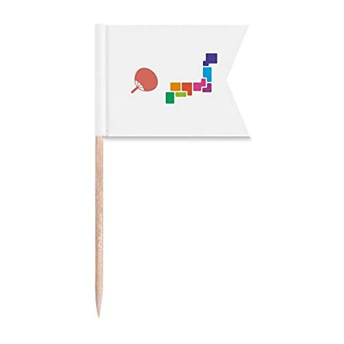 Pufan Japan Tokio Games Show Zahnstocher-Flaggen Markierung für Party Kuchen Lebensmittel Käseplatte