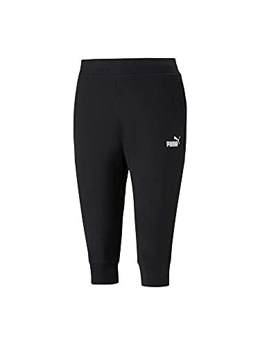 Puma Damen ESS Capri Sweatpants TR Jogginghose, Black, M